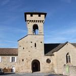 Saint Sauveur -- Eglise romane - Les Salelles - Ardèche <br/> Au coeur de la vallée, elle domine à l'intérieur d'un méandre du Chassezac.